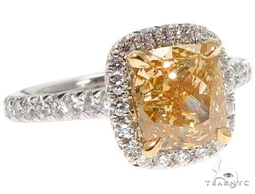Custom Halo Diamond Engagement Ring エンゲージメント