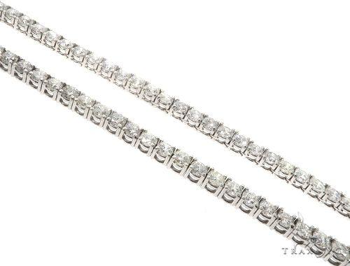 Custom Diamond Tennis Chain 24 Inches 6mm 87 Grams 64755 ダイヤモンド チェーン