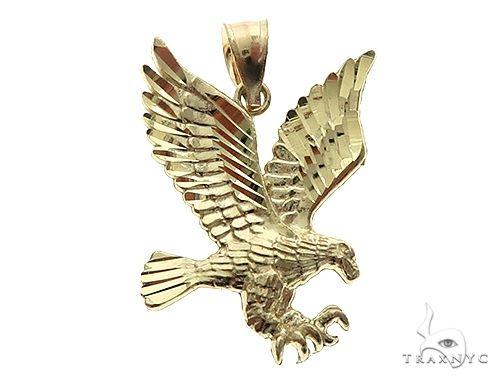 10K Yellow Gold Eagle Pendant 65811 Metal