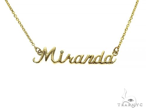 Custom Made 'Miranda' Name Necklace 66136 Gold