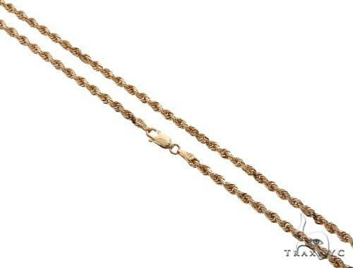 14k Yellow Gold 3.5mm Hollow Figaro Link Necklace Chain 18-24