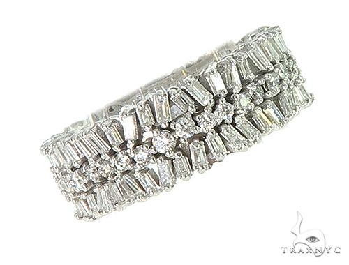 Baguette and Round Diamond Eternity Ring 66307