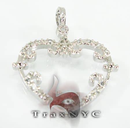 Mini Open Heart Sterling Silver Pendant Metal