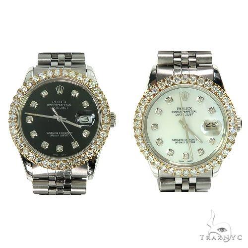 Rolex DateJust 36mm  Diamond Yellow Style Bezel Watch 66510 ロレックス ダイヤモンド コレクション