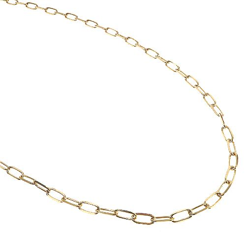 Paperclip Link Chain 22 Inches 3mm 7.62 Grams 66516 Gold
