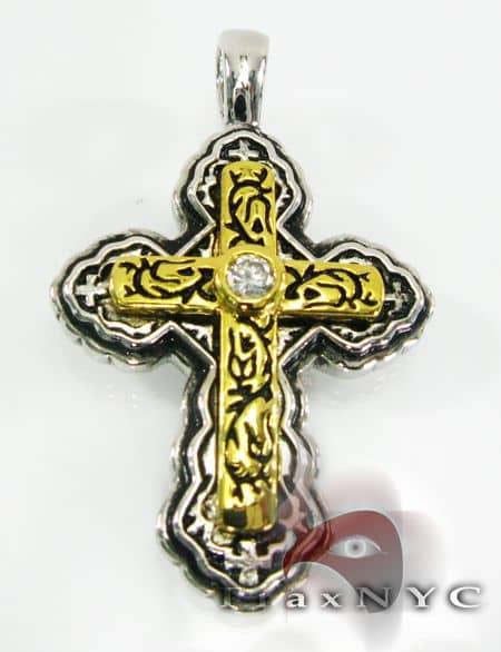 Sterling Silver Pendant Cross Metal