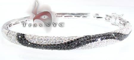Black Diamond Striped Bracelet 3 Diamond