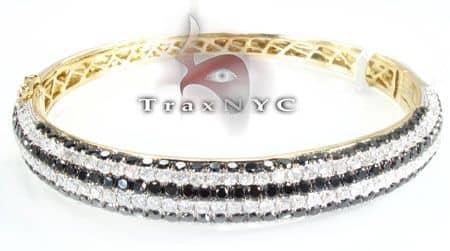 Black Diamond Striped Bracelet 2 Diamond