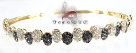 Black Diamond Piano Bracelet Diamond
