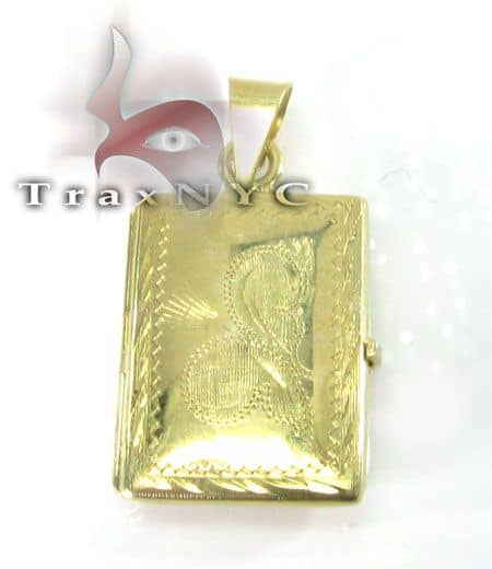Solid Yellow Gold Locket Metal