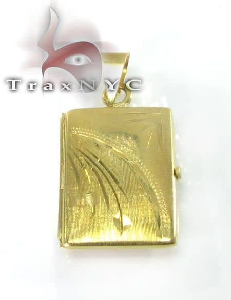 Solid Yellow Gold Locket 2 Metal