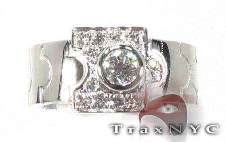 18K White Gold & Diamond Apostle Ring Anniversary/Fashion