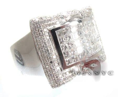 White Gold Mens Calliope Ring Stone