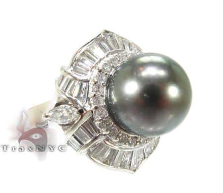 Green Pearl Focal Ring Anniversary/Fashion