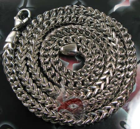 30 Inches 6mm 105.4 Grams Stainless Steel Franco Chain Stainless Steel Chains