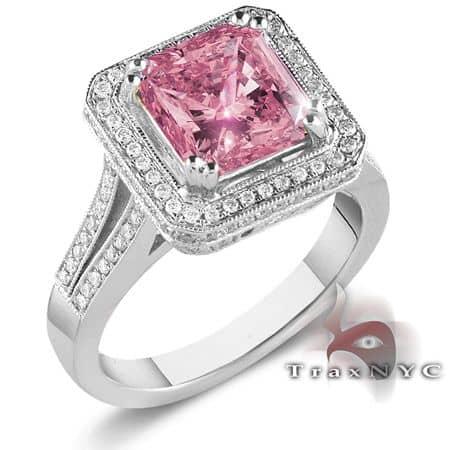 Ladies Pink Crown Ring Anniversary/Fashion