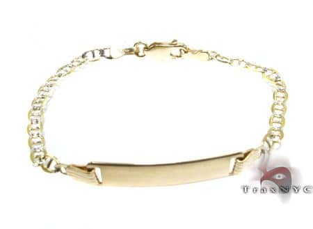 Childs Yellow Gold ID Bracelet 2 Gold