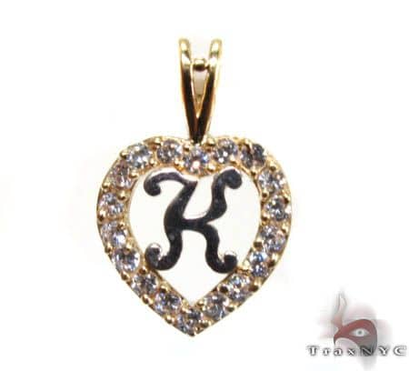 Golden K Pendant Metal