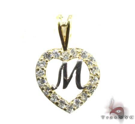 Golden M Pendant Metal