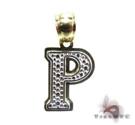 Initial P Pendant Metal