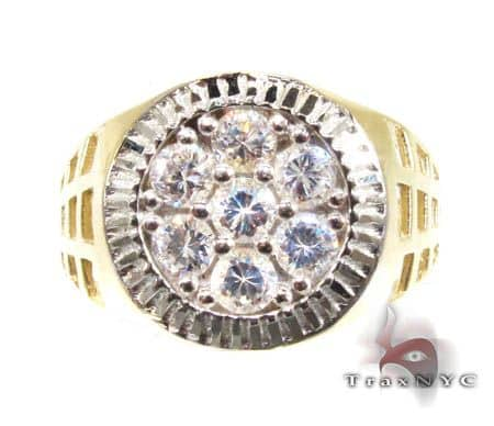 Mens Zeus Shield CZ Ring Metal
