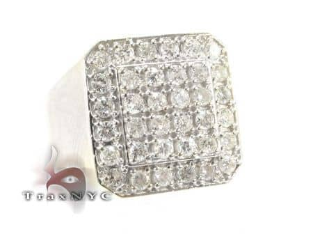 TraxNYC Light 10k White Gold Ring Stone