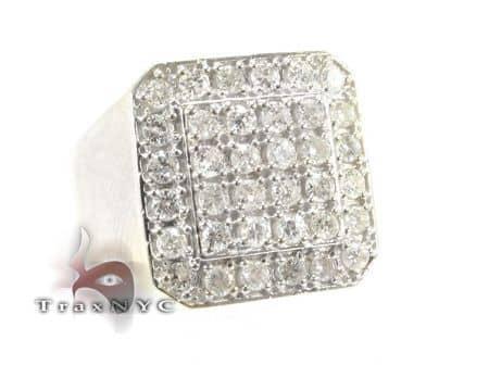 TraxNYC Light 10k White Gold Ring Stone