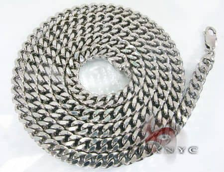 10k White Gold Franco Chain 38 Inches 9mm 184.9 Grams Gold