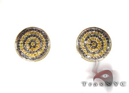 Round Bee Earrings Stone