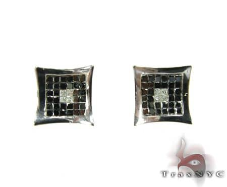 Black&White Diamond Earrings Stone