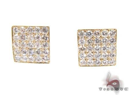 YG Five Row Spec Earrings Stone