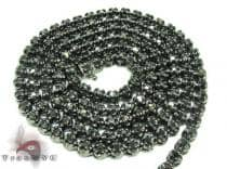 Black Diamond Chain 30 Inches, 4mm, 43 Grams Diamond