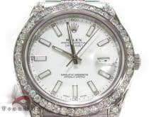 Rolex Datejust II White Gold and Steel 116334 ロレックス ダイヤモンド コレクション