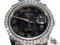 Diamond Rolex Datejust Steel 116200 BKJRO ロレックス ダイヤモンド コレクション