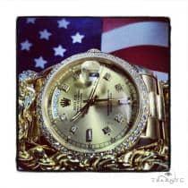 Rolex Day-Date Yellow Gold Watch 36mm ロレックス ダイヤモンド コレクション