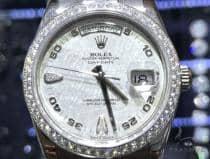 Rolex Day Date White Gold All Original Diamond Watch 63863 ロレックス ダイヤモンド コレクション