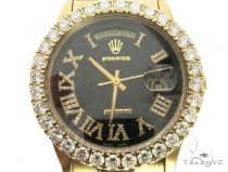 18K Yellow Gold Rolex President Day-Date 63854 ロレックス ダイヤモンド コレクション