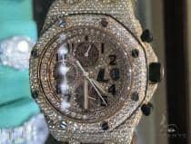 Rose Gold  Audemars Piguet Royal Oak Offshore Diamond Watch Leather Strap 63892 Audemars Piguet オーデマピゲ