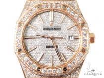 Diamond Audemars Piguet Royal Oak 41mm Watch with Leather Strap 64058 ロレックス ダイヤモンド
