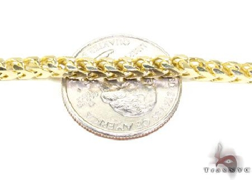 .925 Sterling Silver Solid Franco Link n 36 Inches 5.5mm 131 Grams 63915 Gold