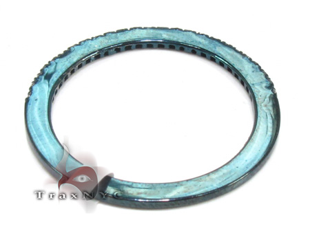1 Row Blue Diamond Ring 20452 Anniversary/Fashion
