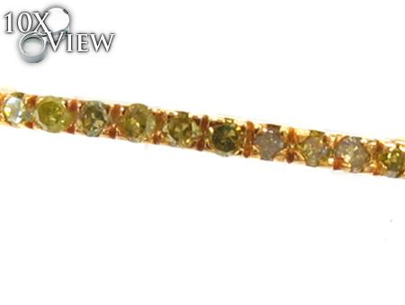 1 Row Canary Diamond Ring 20449 Anniversary/Fashion