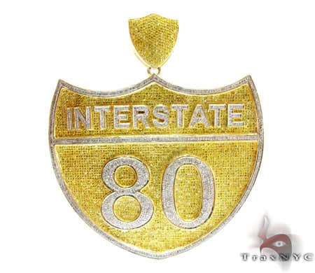 Hip Hop Jewelry - Super Interstate Pendant Metal