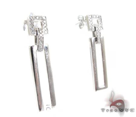 Ladies Chandelier Abstract Earrings Stone
