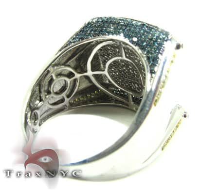 Multi Color Scroll Ring Stone
