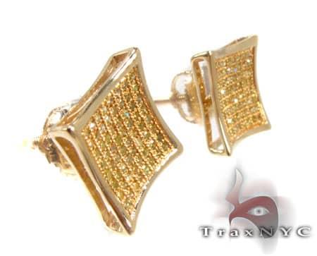 Canary SQ Earrings Stone