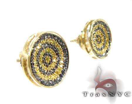 Round Bee Earrings Stone