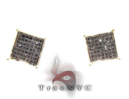 Black Diamond Earrings Stone