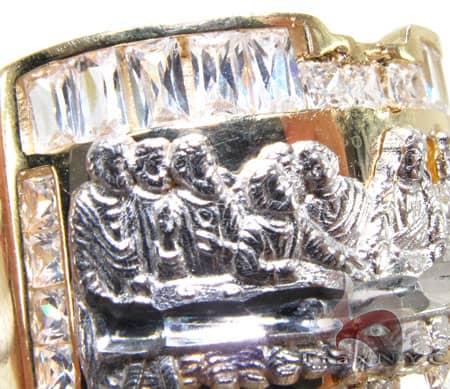 Mens CZ Last Supper Ring 4 Metal