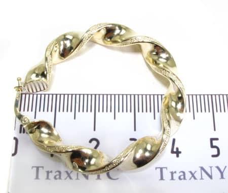 Golden Spiral Earrings 2 Metal